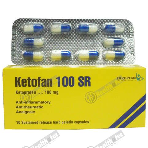 ketofan 100mg sr 10c 1st. cap(eg)