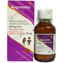 augmentin 457mg/5ml 70ml susp(eg)
