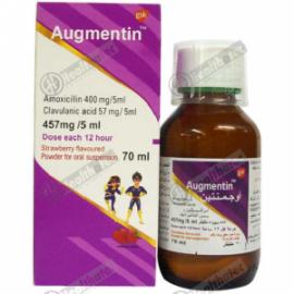 augmentin 457mg/5ml 70ml susp(eg)